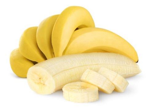 Ripe bananas isolated on shite