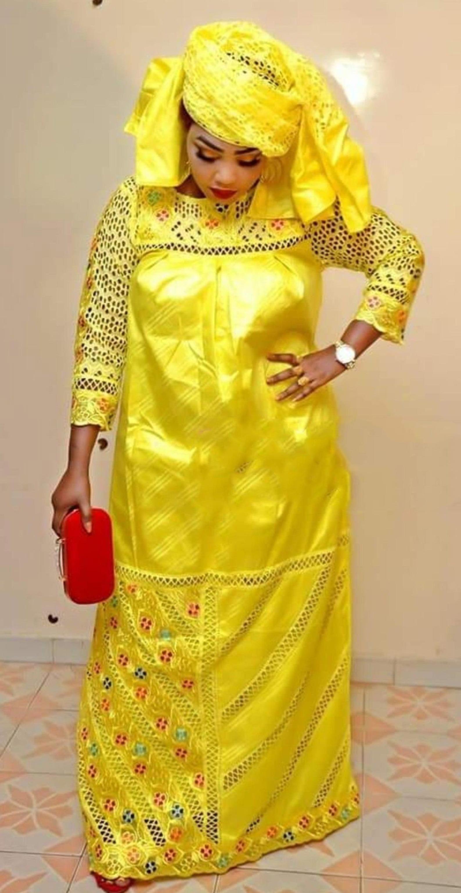 Premium Getzner magnum gold African dress_African clothing_African fashion_ African dress_Bazin boubou, Plus size dress_Plus size clothing (1)